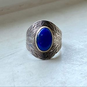 Lapis sterling ring